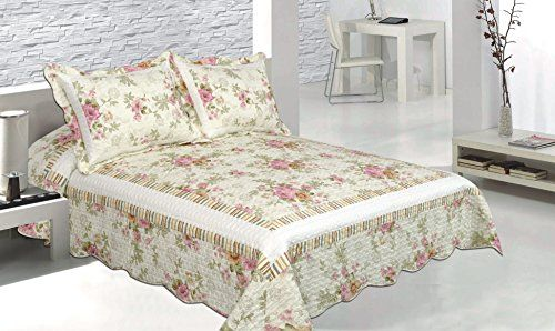 Patch Magic Pretty Pink Vista 3Piece Quilt Set Queen Floral Peony Pink -- See this great product.
