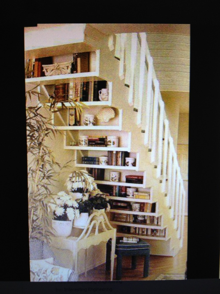 awesome.: Spaces, Bookshelves, Books Shelves, Basements Stairs, Stairs Storage, Understairs, Under Stairs, Bookca, Great Ideas