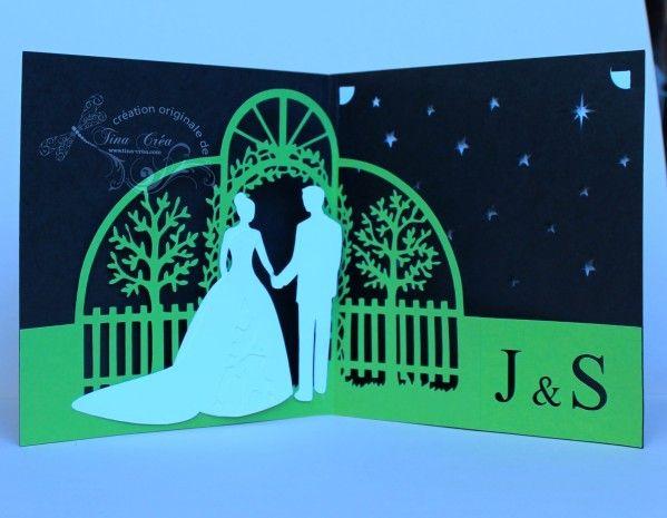 mariage faire part et cartes de mariage pop up pinterest mariages carte de mariage et. Black Bedroom Furniture Sets. Home Design Ideas