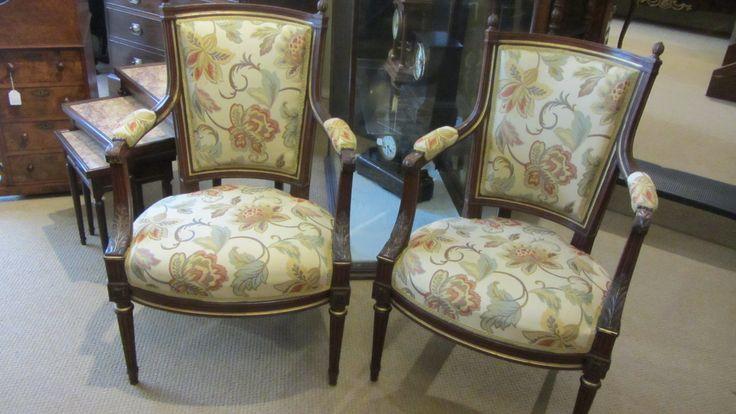 AU211C Pair of Chairs - http://pageantiques.com.au/