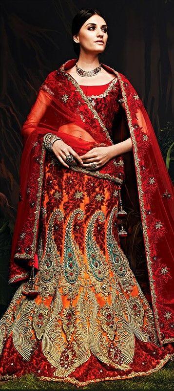 156928: INDIAN WEDDING - BRIDAL WEAR  #Lehenga is worn by Indian brides. Are you planning an Indian wedding? :)  #IndianFashion #IndianWedding #Bridalwear #lehengacholi #onlineshopping #sale #Ethnicwear #Weddingtheme