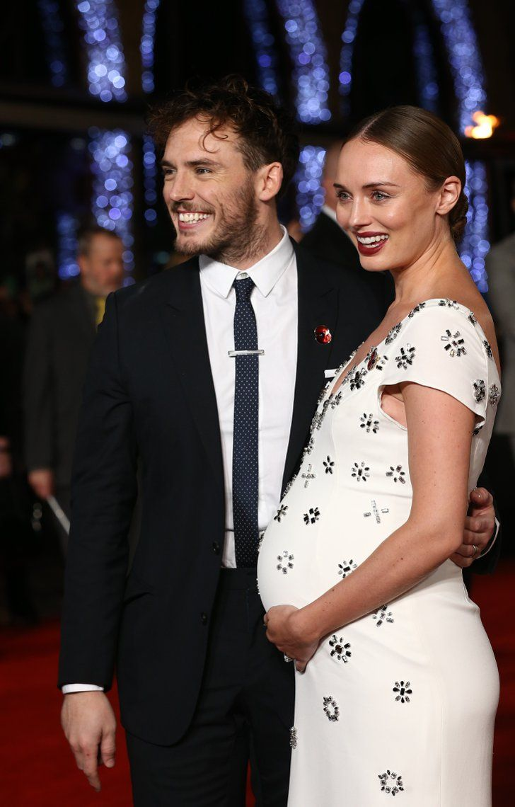 Pin for Later: Sam Claflin and Laura Haddock Are the Cutest Red Carpet Couple Ever When Baby Made Three!