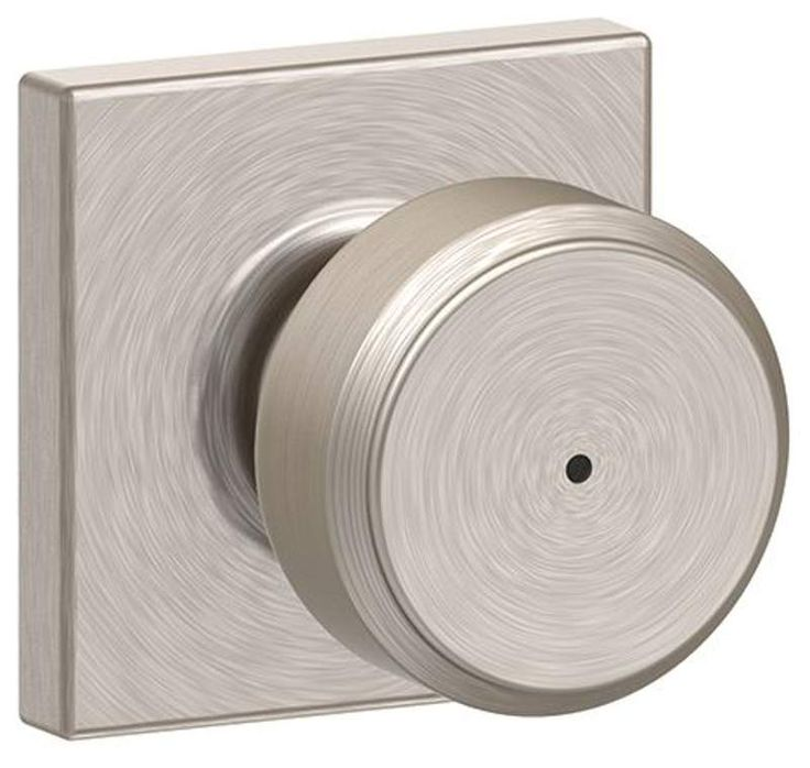 View the Schlage F40-BWE-COL Bowery Privacy Door Knob Set with Decorative Collins Rosette at Handlesets.com.