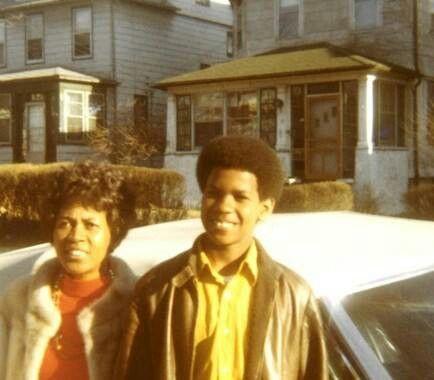 Denzel Washington with his mom.