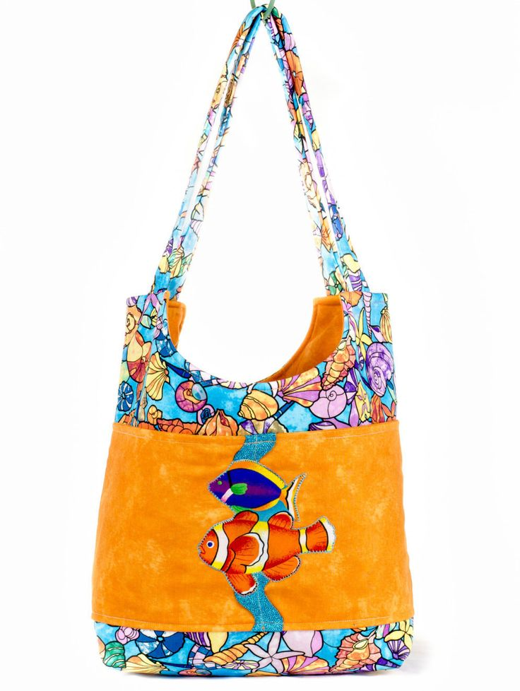 Everyday Tote, Under The Sea, Teacher Tote, Teacher Gift, Teacher Appreciation, Thank You Gift, Gifts For Her, Book Bag, School Supplies by SewBusyBags on Etsy