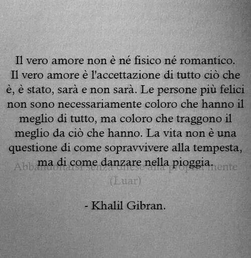 Vero amore - Gibran