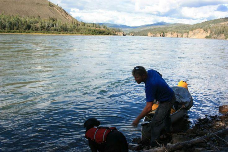 Towards Dawson City on the Yukon River.  #Yukon  #Canada  #pleinair #art #oilpainting #wilderness #adventure