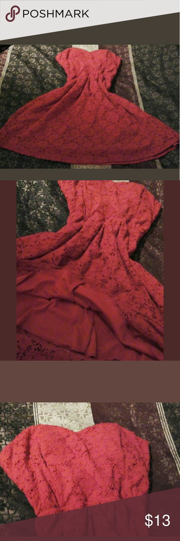 Guess dress large lacey red with built in slip Guess dress large lacey red with built in slip guess Dresses Mini