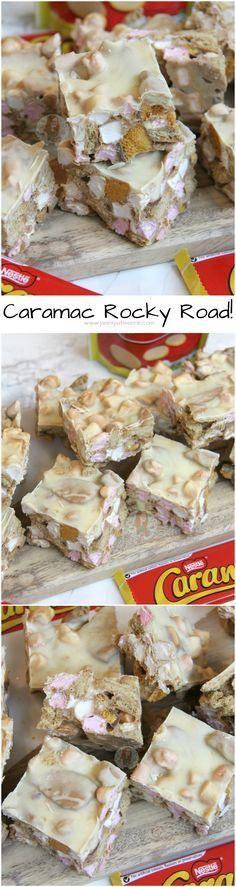 Caramac Rocky Road!! ❤️ A Delightful Caramac Rocky Road with Marshmallows, Digestives, Cadbury's Crunchies.. YUMMMMM.