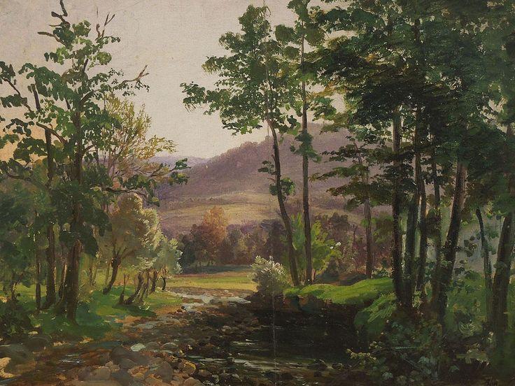Antonín Mánes - Morning Landscape, 1841