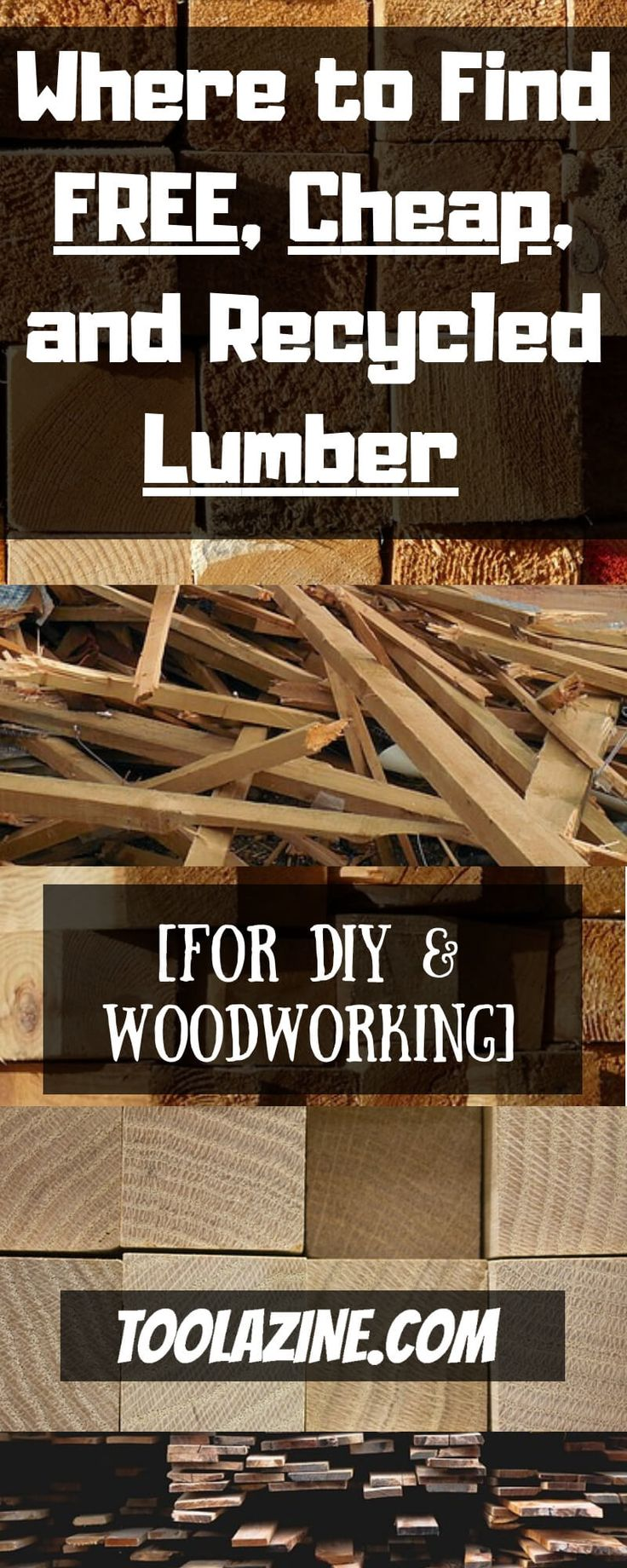DIY Woodworking Ideas Where to Find Free, Cheap, and Recycled Lumber for DIY & Woodworking. Repurposed...
