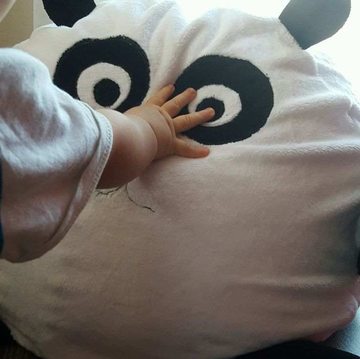 Купить Игрушка-подушка Панда - чёрно-белый, игрушка, подушка, панда, подарок, дизайнерская, детям