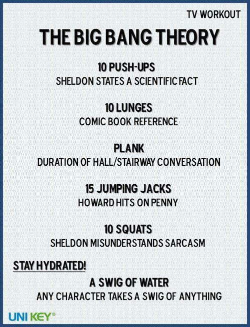 Big Bang Theory workout