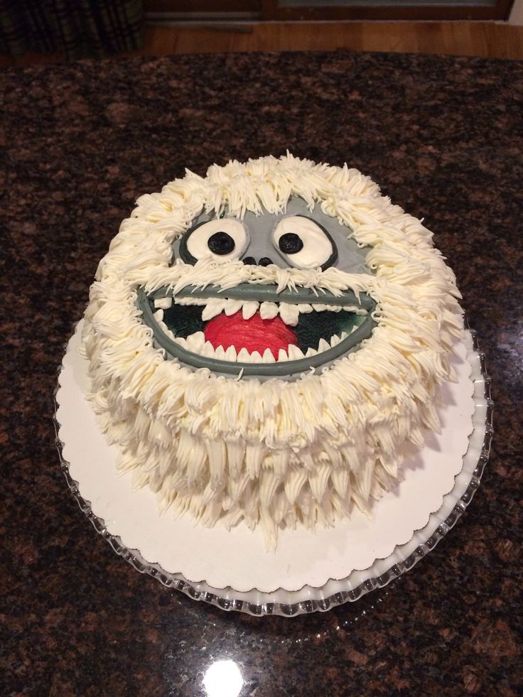 Abominable snowman cake!