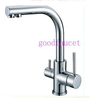 Brand NEW kitchen sink faucet tap pure water filter mixer dual handles chrome (32635592059)  SEE MORE  #SuperDeals