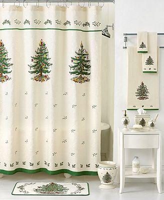 Spode Christmas Tree Bathroom Accessories
