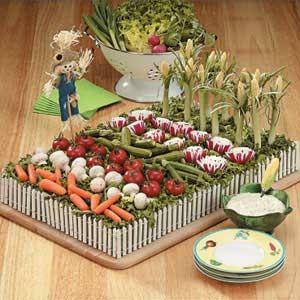 An extra fun veggie platter! by Barbara Wellner via Taste of Home