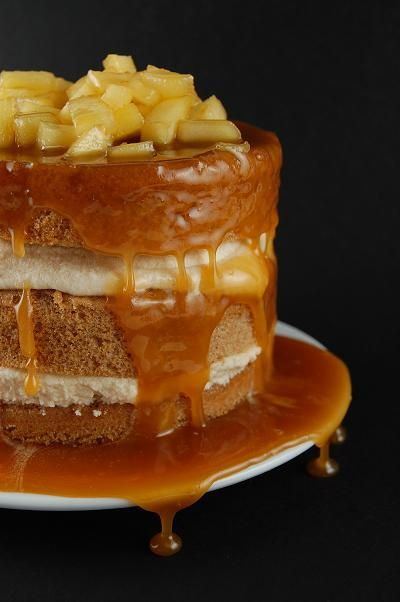 Spice Cake with Caramel Mousse and Caramel Apple Sauce from Culinary Concoctions by Peabody