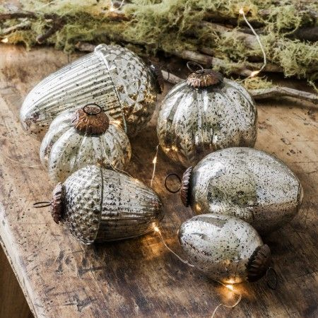 Antiqued Glass Baubles - Christmas - Shop By Category - New In