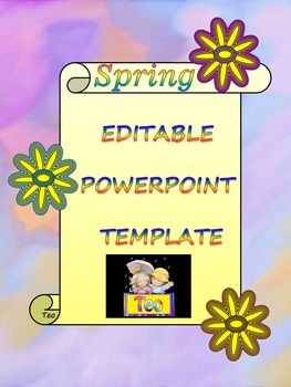 Spring Activities - Spring - Editable Template - Poster Activity - Editable PowerPoint - Personal or Commercial Use The zip file contains: - Editable Template - 16 slides - PDF - 16 pages This template can be used as a PowerPoint to add all of your own text or print the slides to create an attractive Spring themed word wall!**********************************************************Check out some of my products!- MAP and GLOBE- PowerPoint presentation  - Solar System- planets- PowerPoint…