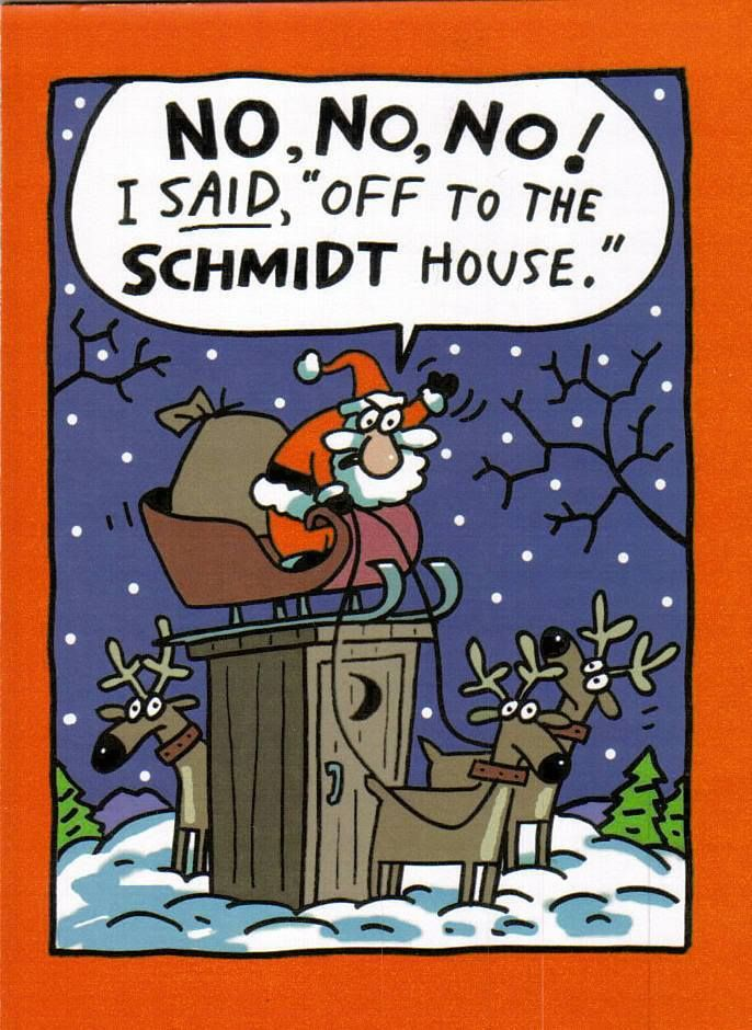 Captivating Christmas Joke: The Schmidt House