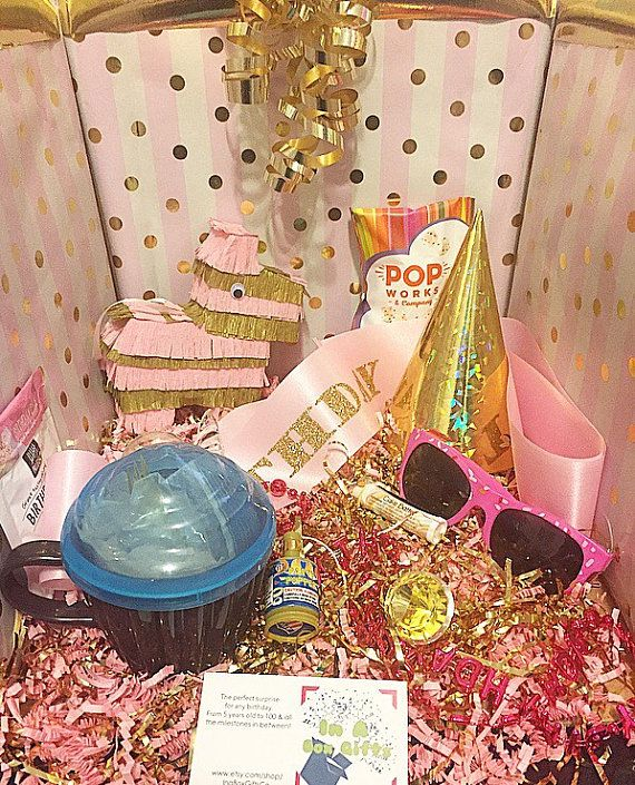 Pink and Gold party 16th birthday gift Birthday Box 18th