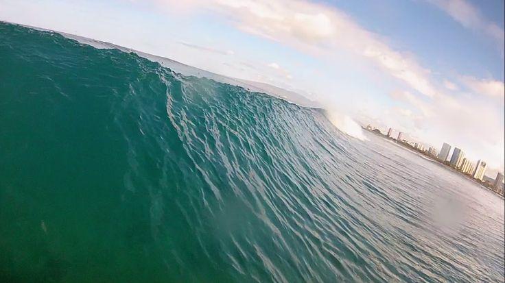 Surfing Waikiki - GoPro Head Cam Part 4