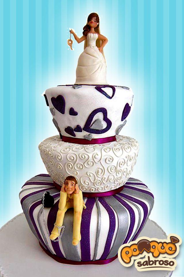 Torta Matrimonial elaborada y personalizada por Ponqué Sabroso, imaginación con amor.  www.facebook.com/ponquesabroso