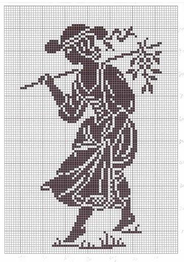 monochromatic Cross Stitch