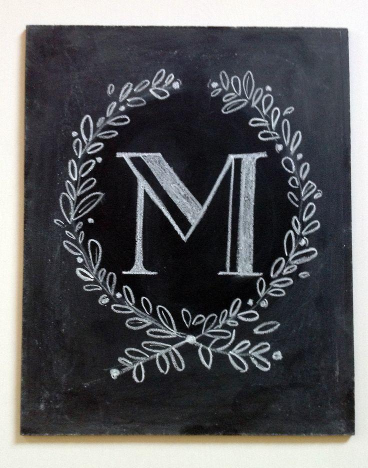 Custom Monogram Chalkboard - Monogrammed Gift - Monogram Wedding Gift - Monogram Sign. $45.00, via Etsy.