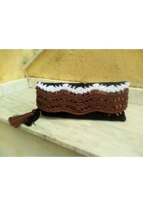 """""""Cactus"""" Clutch Bag, 100% made from Silk!"""