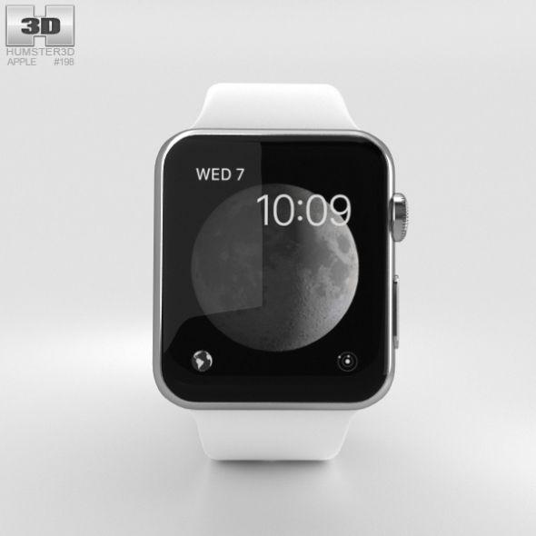 Apple Watch Series 2 38mm Stainless Steel Case White Sport Band Apple Watch Series 2 Apple Watch Apple Watch Series