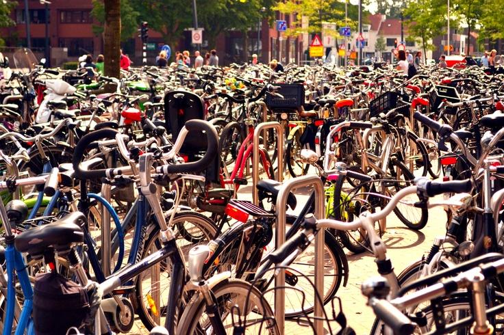 bike parking in Enschede
