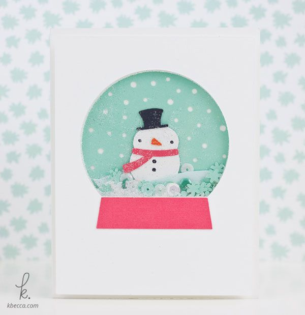 Snowman Snow Globe Shaker Card Cut Files | K.becca