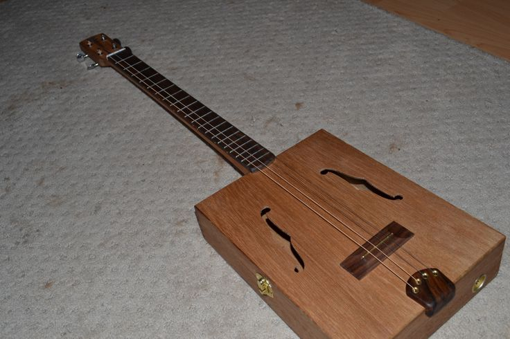 4 string Custom Box Guitar- owned by Candace Copley