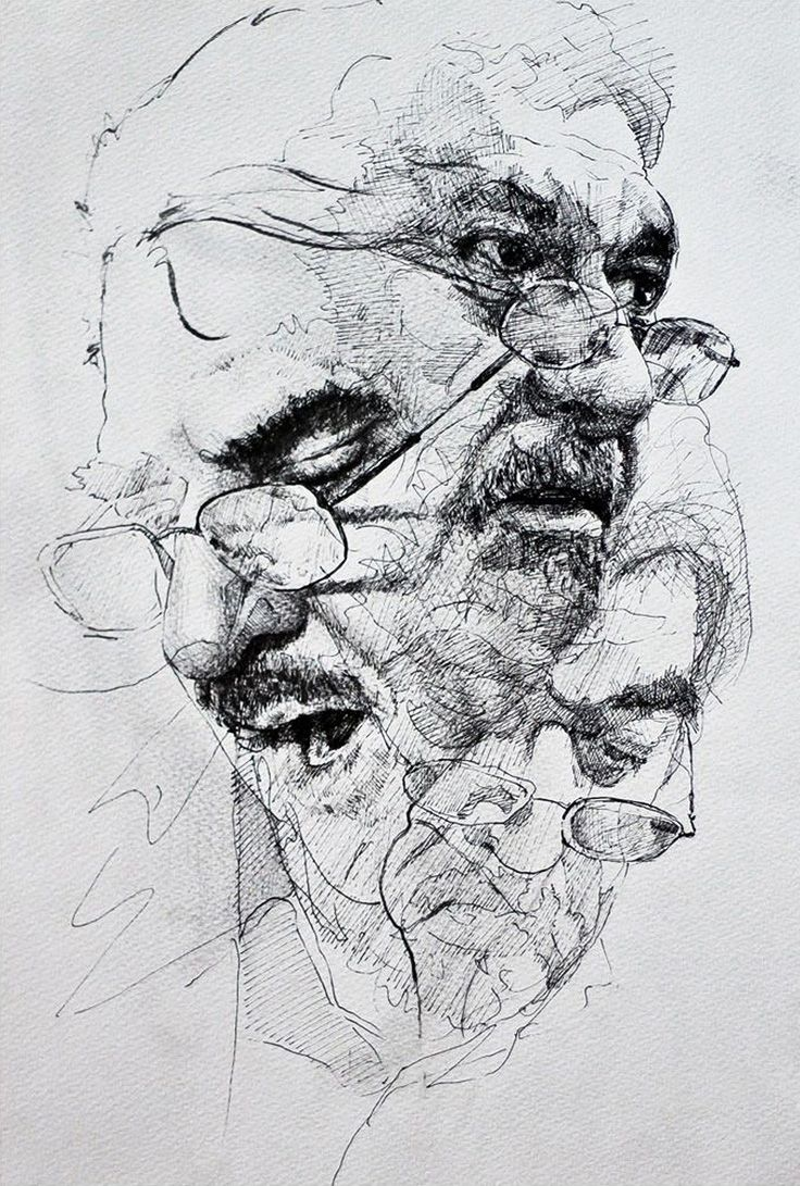 Best 25 man face drawing ideas on pinterest drawing men face chenar othman pen and ink contemporary figurative art male head eyeglasses man face portrait ccuart Image collections