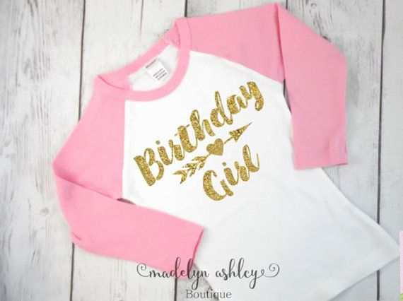 Girls Birthday Shirt-Birthday Girl Shirt-Girls by MadelynAshleyBtq