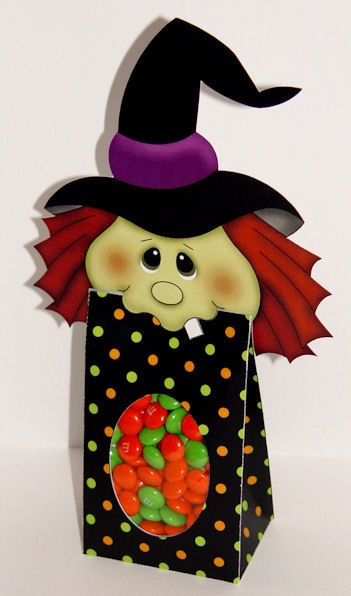 Witch bag printableBags Printables, Treats Bags, Treat Bags, Witches Treats, Witches Bags, Parties Favors, Bags Toppers, Printables Wanda, Paper Crafts
