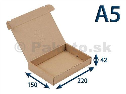 Krabica z trojvrstvového kartónu 220x150x42 pre tlačoviny A5