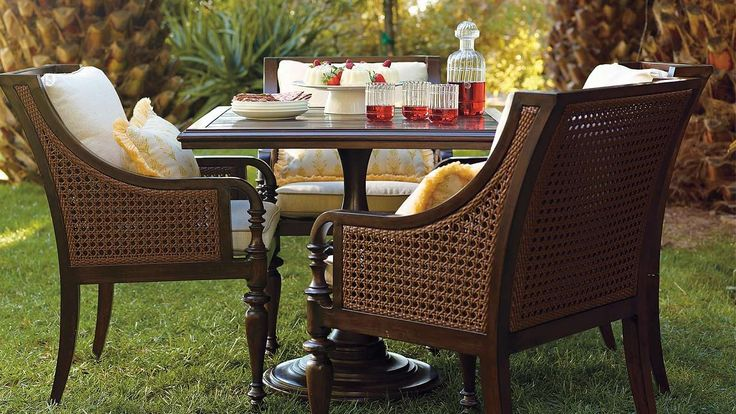 Outdoor Furniture In A Classic British Colonial Style