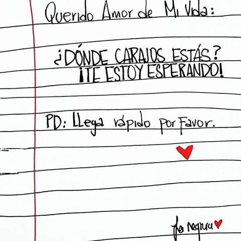 DONDE CARAJOS! <3 (Aclaró que es solo una expresión y que todas seremos nuestro amor de la vida, pero que rico sería tener y llamar a otro el amor de nuestras vidas :p) <3 #girlpower #art #artwork #girl #illustrations #ilustracion #amor #love #lovers #frasesdeamor #lanegrura #medellin #colombia