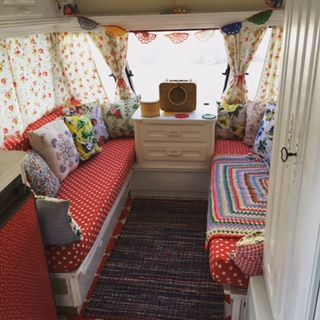 Made by Mim UK: August , Margo our caravan makeover