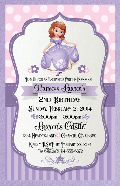 25 best ideas about princess sofia invitations on for Sofia the first crown template