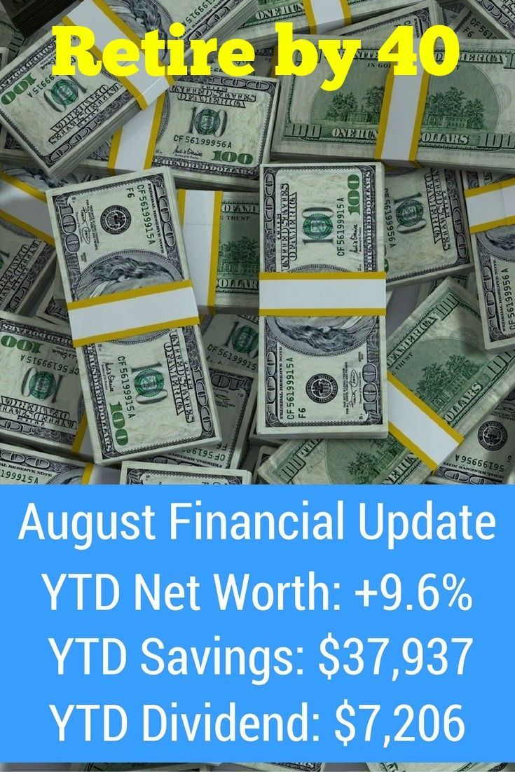 August 2016 Goals and Financial Updates 571