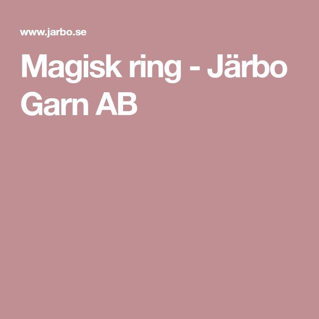 Magisk ring - Järbo Garn AB