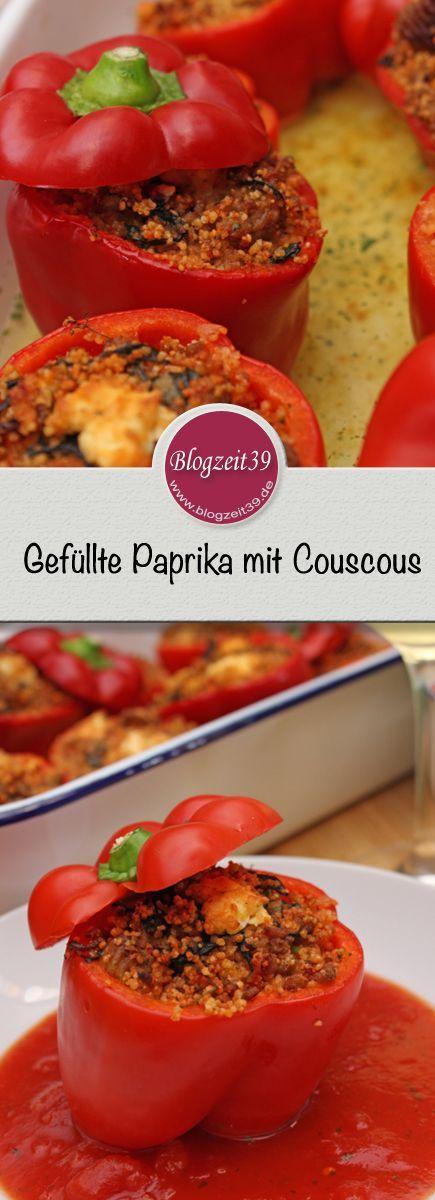 Gefüllte Paprikaschoten mit Couscous