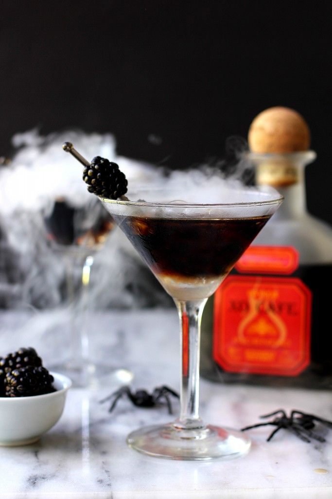 Spooky chocolate-chili cocktail