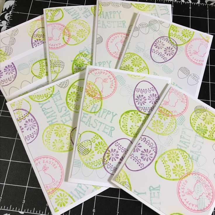 One sheet wonder cards from hand stamped paper