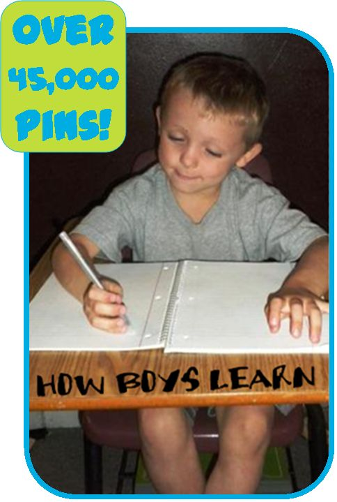 ❤️How Boys Learn - best ways to teach your active little boys.