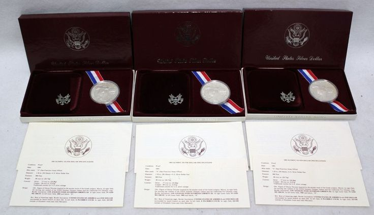 929 1983-S US Olympic Proof Silver Dollar Commemorative Coin Maroon US Mint Box 900  #US #proof #fine #silver #dollar #coin #olympic #for #sale